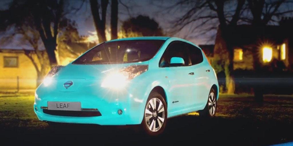 Nissan leaf pintura brilla oscuridad 3