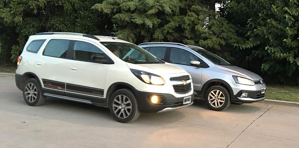 Chevrolet Spin Vs Suran Cross Motriz