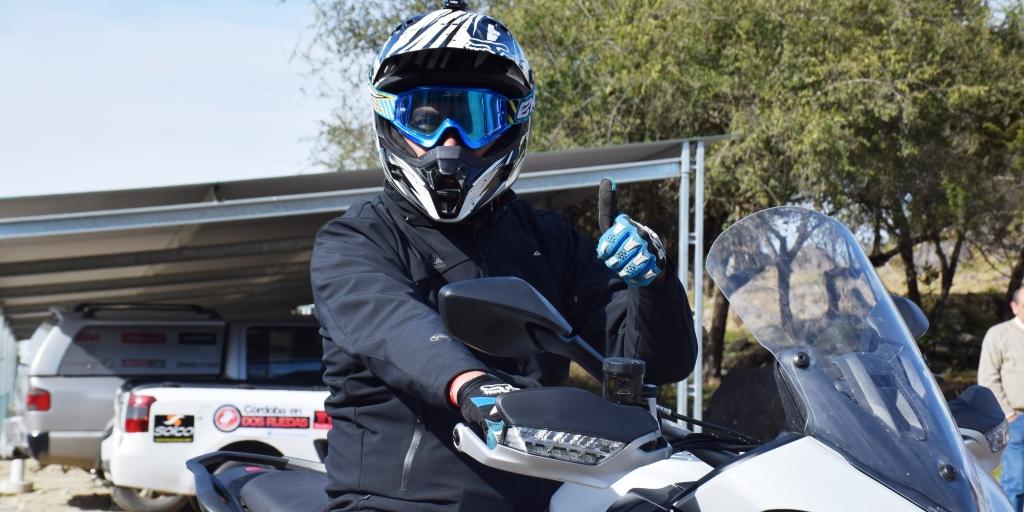 En preparativos para comenzar la prueba de manejo de la nueva Ducati Multiestrada 1200