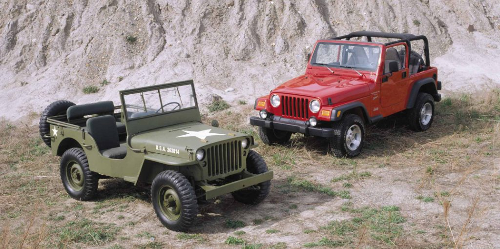 Willys MB and Jeep(R) Wrangler. (J-0268)