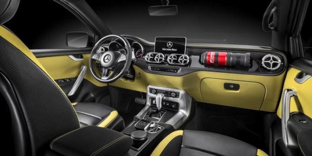 Mercedes benz clase x interior