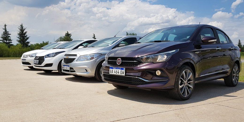 Fiat Cronos con rivales