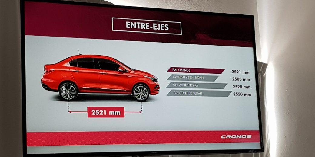 Fiat Cronos distancia entre ejes