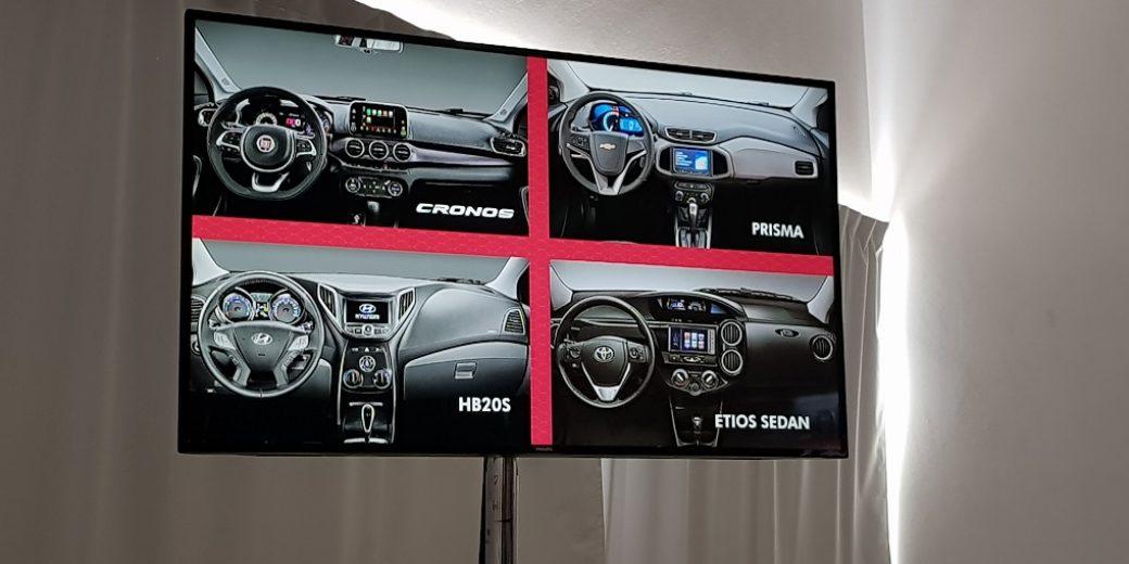 Interior Fiat Cronos Vs competencia