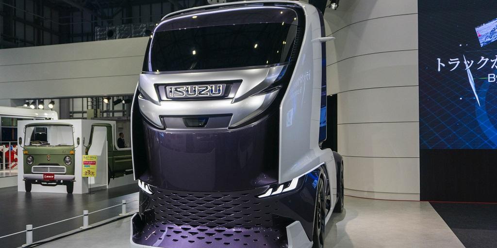 Isuzu FL-IR : el camión autónomo inspirado en un tiburón
