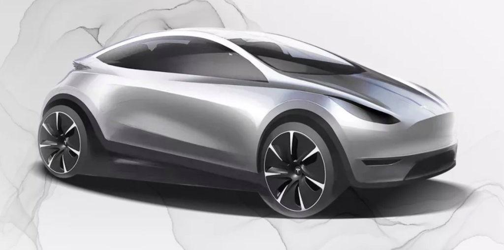 El boceto del nuevo auto de Tesla: compacto y hecho en China